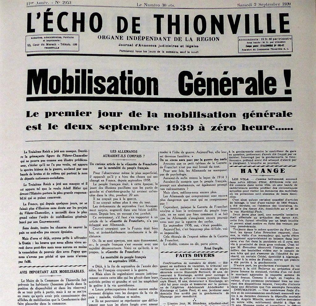 ordre mobilisation